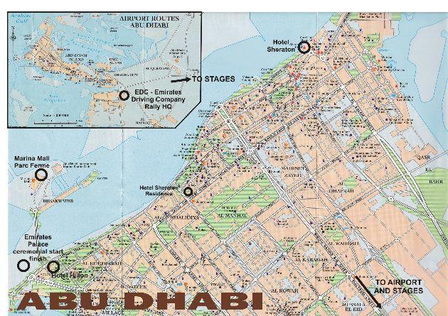Расположение аэропорта, улицы Абу-Даби