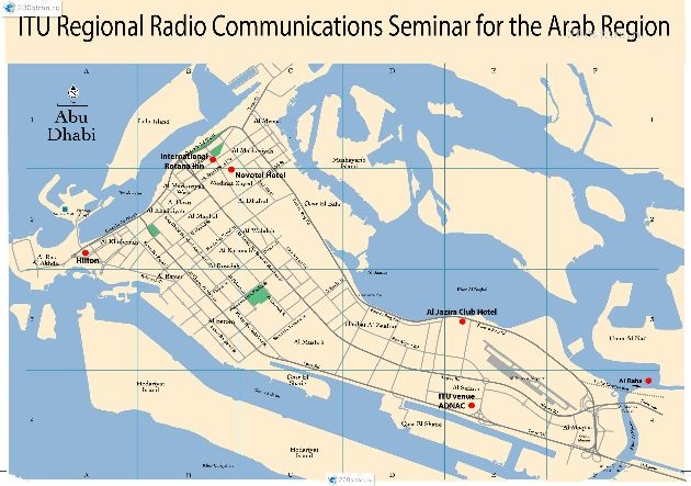 Ещё один вариант карты острова Абу-Даби
