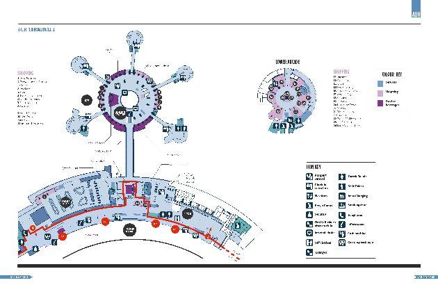 План терминала 1, являющегося основным терминалом аэропорта