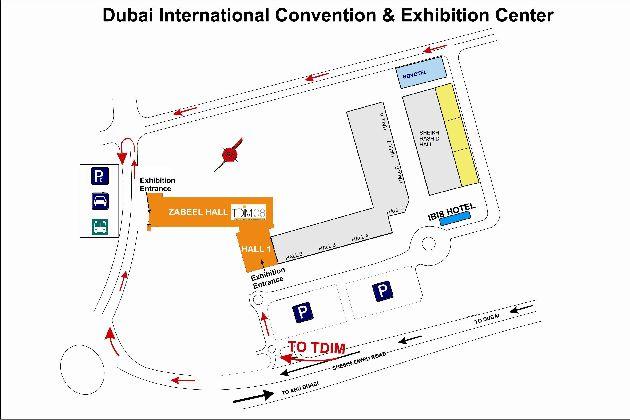 План Международного выставочного и конференц-центра Дубая