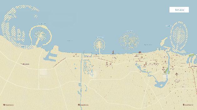 На этой карте вы можете рассмотреть курортный район Дейра