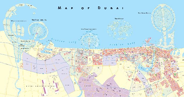 Три острова-пальмы на карте Персидского залива