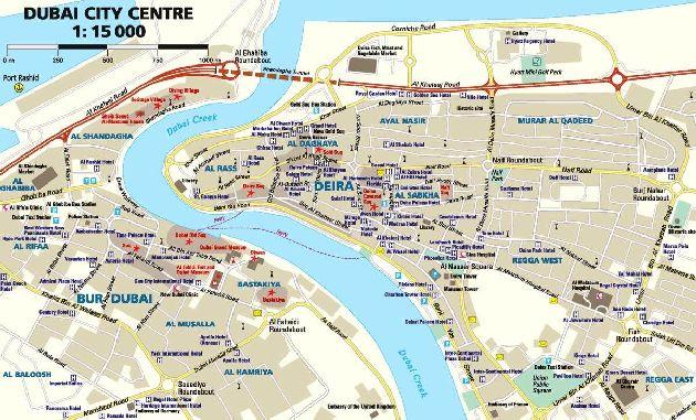 Схема центральной части Дубая
