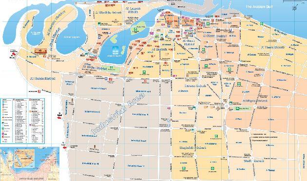 Крупномасштабная туристическая карта Шарджи