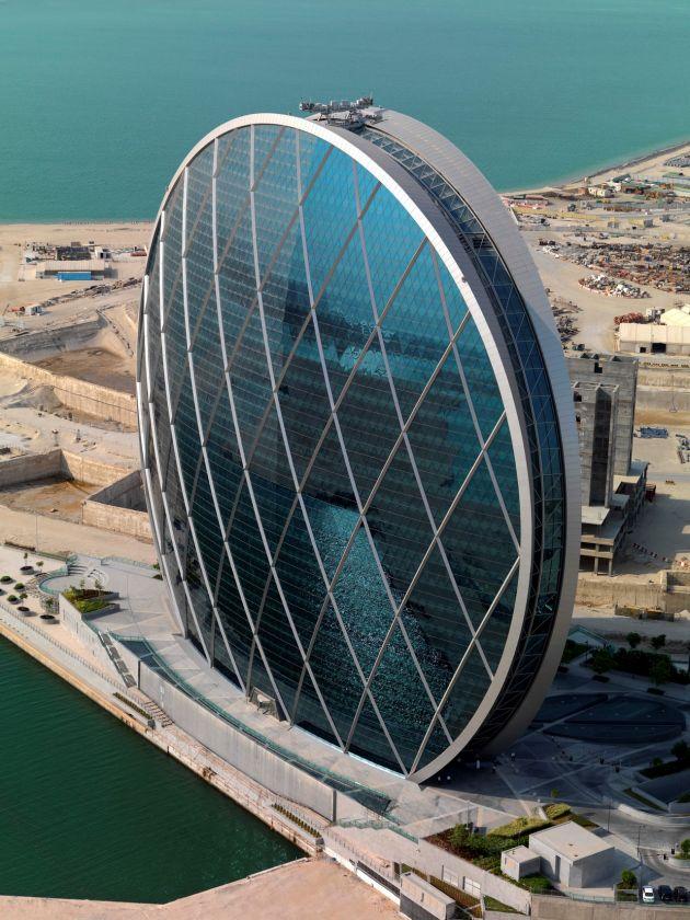 Увидедь еще одно чудо - круглый небоскреб Aldar Hq в Абу-Даби