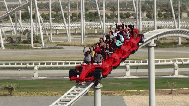 Formula Rossa в парке аттракционов Ferrari в Абу-Даби
