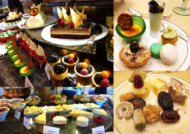 Особенно впечатляет выбор десертов, для изготовления которых приглашают лучших кондитеров