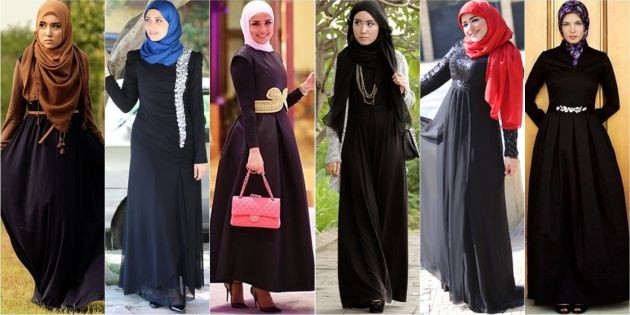 Примеры нарядов, которые носят местные жительницы ОАЭ.. не правда ли красиво? )